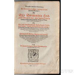 Oettinger, Johann (1577-1633) Balthasar Kuchler (1571-1641) Warhaffte Historische Beschreibung Der Furstlichen Hochzeit vnd Hochansehnl