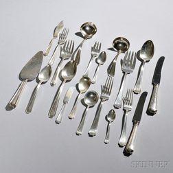 Assembled American Sterling Silver Flatware Service