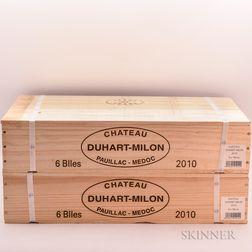 Chateau Duhart Milon Rothschild 2010, 12 bottles (2 x owc)