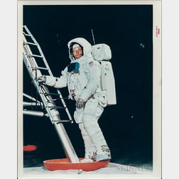 Apollo 11, Space Suit, One Photograph and Other Material.
