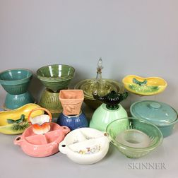 Twenty Ceramic and Glass Kitchen Items.     Estimate $20-200