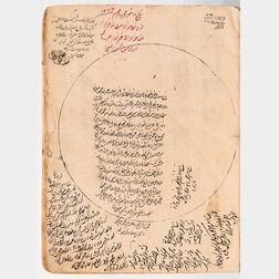 Arabic Manuscript on Paper. Kholasat' al-Hesab (Arithmetic Summary) and its Description, 1075 AH [1664 CE].