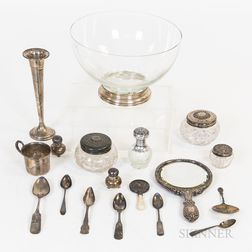 Group of Silver Tableware and Vanity Items