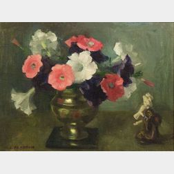 Marguerite Stuber Pearson (American, 1898-1978)  Still Life with Petunias