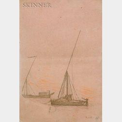 Jean-Léon Gérôme (French, 1824-1904)    Two Sailboats