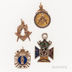 Group of Masonic Pins