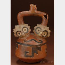 Pre-Columbian Painted Effigy Vessel