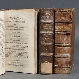 Peruvian Imprints, Three Sammelband Volumes, 1816-1867.