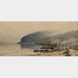 Alfred Thompson Bricher (American, 1837-1908)      Coastal Landscape, Probably Maine