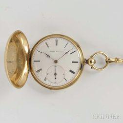 Jules Hugenin 18kt Gold Hunter Case Lady's Watch
