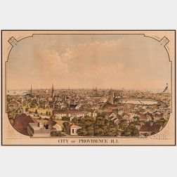 """""""City of Providence R.I."""" Lithograph"""