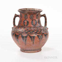 Southwest Polychrome Pottery Jar with Handles