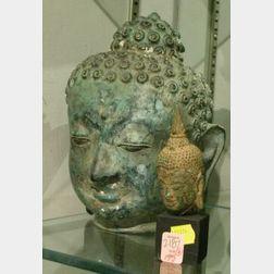 Two Thai Bronze Heads.