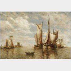 Paul Jean Clays (Belgian, 1819-1900)  Harbor View