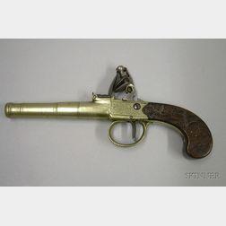 Brass Flintlock Pocket Pistol by T. Archer