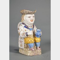 French Faience Toby Jug