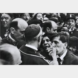 Henri Cartier-Bresson (French, 1908-2004)      Visite du Cardinal Pacelli, Montmarte (Later Pope Pius XII)
