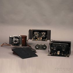 Zeiss Super Ikonta and Two Stereo Cameras