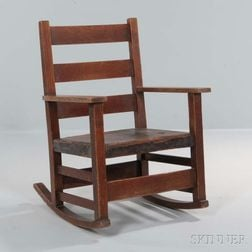 Gustav Stickley Arts and Crafts Child's Rocking Chair