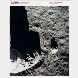Apollo 11, Buzz Aldrin, Lunar Overshoe, July 11, 1969.
