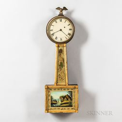 "Gilt-front and Mahogany Patent Timepiece or ""Banjo"" Clock"