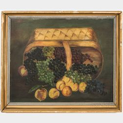 American School, 19th Century       Still Life with a Basket of Fruit