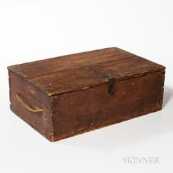 Early Red-washed Pine Storage Box