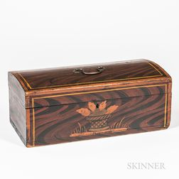 Dome-top Paint-decorated Pine Box