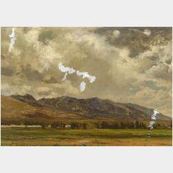 Jervis McEntee (American, 1828-1891)  Below Fort Halleck