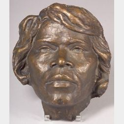 American School, 20th Century      Face of a Woman, Probably Marian Anderson