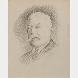 William McGregor Paxton (American, 1869 - 1941)    Portrait of Grover Cleveland