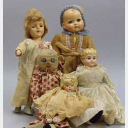 Assorted Group of Dolls and Doll Clothing