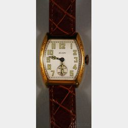 14kt Gold Elgin Model E-3 Wristwatch