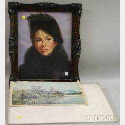 Two Works:      Tom Dodson (American, 20th Century), Portrait of Ruth Roemer