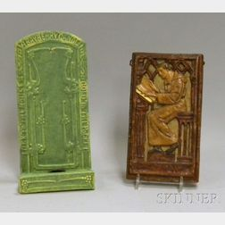 Two Art Pottery Wall Plaques