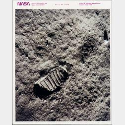 Apollo 11, Footprint on the Moon, July 1969.