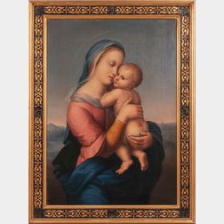 Giuseppe Mazzolini (Italian, 1806-1876)      Copy After The Tempi Madonna