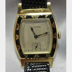 "Art Deco 14kt Gold ""Coronado"" Wristwatch, Hamilton"