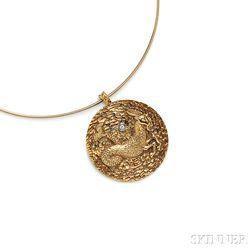 18kt Gold Zodiac Pendant