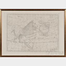 Large Framed Celestial Map