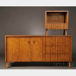 John Widdicomb Double Bureau and Bedside Table
