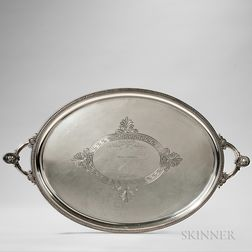 """Starr & Marcus """"Medallion"""" Pattern Sterling Silver Tray"""