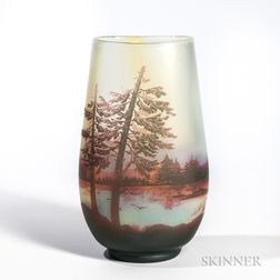 DeVez Cameo Glass Vase