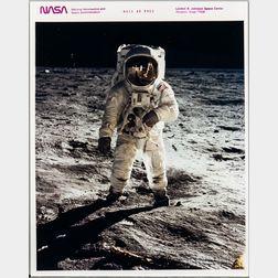 Apollo 11, Buzz Aldrin on the Surface of the Moon, the Visor Photograph, July 11, 1969.