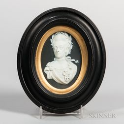 Wedgwood Black Jasper Dip Portrait Medallion