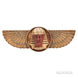 Antique Egyptian Revival Gold Brooch