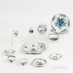 Twelve Pieces of English Porcelain Tableware