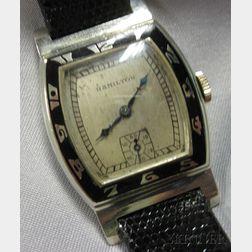 "Art Deco 14kt White Gold ""Coronado"" Wristwatch, Hamilton"