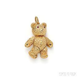 18kt Gold Teddy Bear Pendant