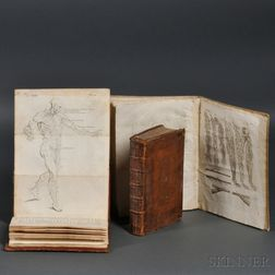 Medical Books, Surgical Anatomy, Three Volumes, 1727-1802.